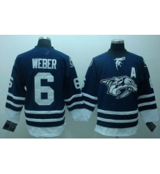 RBK Nashville Predators 6# WEBER Premier BLUE Jersey