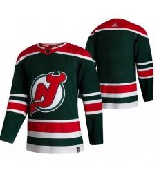 Men New Jersey Devils Blank Green Adidas 2020 21 Reverse Retro Alternate NHL Jersey