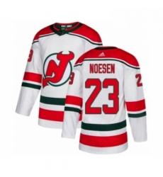 Mens Adidas New Jersey Devils 23 Stefan Noesen Authentic White Alternate NHL Jersey