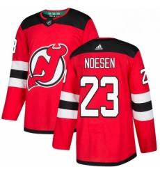 Mens Adidas New Jersey Devils 23 Stefan Noesen Premier Red Home NHL Jersey