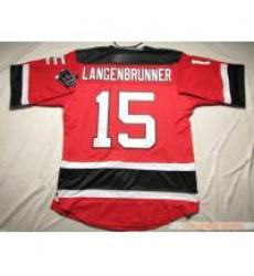 New Jersey Devils #15 Jamie Langenbrunner Red