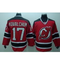 New Jersey Devils 17 Ilya Kovalchuk Red Jerseys Throwback