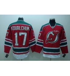 New Jersey Devils #17 KOVALCHUK Red GREEN 3RD Hockey Jersey