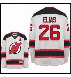 New Jersey Devils #26 Elias Red Hockey white Jersey