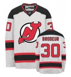 New Jersey Devils #30 Brodeur White Hockey Jersey