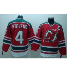 New Jersey Devils #4 STEVENS Red GREEN 3RD Hockey Jersey