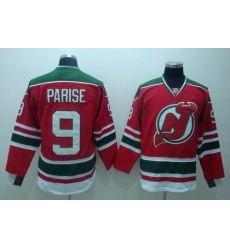 New Jersey Devils #9 Parise Red GREEN 3RD Hockey Jersey