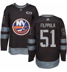 Mens Adidas New York Islanders 51 Valtteri Filppula Authentic Black 1917 2017 100th Anniversary NHL Jersey