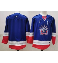 Men New York Rangers Blank Light Blue 2021 Retro Stitched NHL Jersey