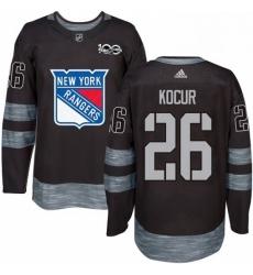 Mens Adidas New York Rangers 26 Joe Kocur Premier Black 1917 2017 100th Anniversary NHL Jersey