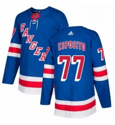 Mens Adidas New York Rangers 77 Phil Esposito Authentic Royal Blue Home NHL Jersey
