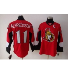 Ottawa Senators 11 ALFREDSSON red jerseys C patch