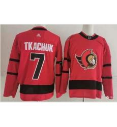 Ottawa Senators 7 Brady Tkachuk Red Men Adidas 2020 21 Reverse Retro Alternate NHL Jersey