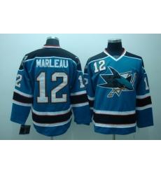 San Jose Sharks 12 Patrick marleau blue Jerseys