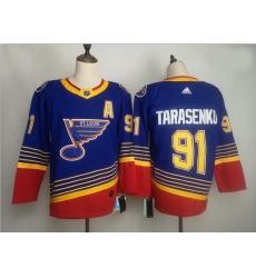 Blues 91 Vladimir Tarasenko Blue Adidas Jersey