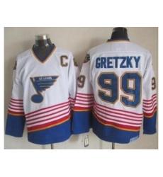 St. Louis Blues #99 Wayne Gretzky White CCM Throwback Stitched NHL Jersey
