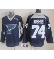 St.Louis Blues #74 T.J Oshie Navy Blue Practice Stitched NHL Jersey