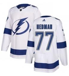 Men Adidas Tampa Bay Lightning 77 Victor Hedman Premier White Home NHL Jersey