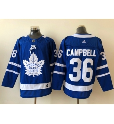 Men Toronto Maple Leafs Jack Campbell 36 Blue Alternate NHL Jersey