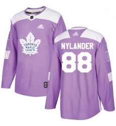 Youth Maple Leafs 88 William Nylander Purple Authentic Fights Cancer Stitched Hockey Jersey