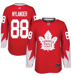 Youth Maple Leafs 88 William Nylander Red Team Canada Authentic Stitched Hockey Jersey