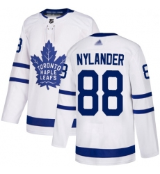 Youth Maple Leafs 88 William Nylander White Road Authentic Stitched Hockey Jersey
