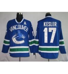 Hockey Jerseys Vancouver Canucks 17 KESLER blue