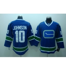 Vancouver Canucks 10 Johnson blue Hockey 3rd jersey