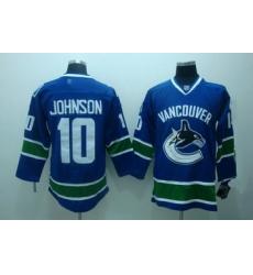 Vancouver Canucks 10 Johnson blue jersey
