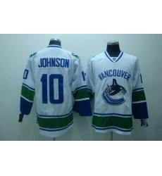 Vancouver Canucks 10 johnson white Hockey Jerseys