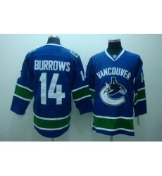 Vancouver Canucks 14 Burrows blue Jerseys