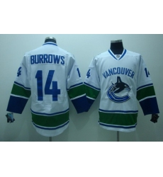 Vancouver Canucks  14 Burrows  white Jerseys
