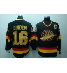 Vancouver Canucks 16 Linden Black Jerseys