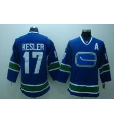 Vancouver Canucks 17 Kesler blue 3rd Jersey A patch