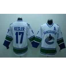 Vancouver Canucks 17 Kesler white Jersey A patch