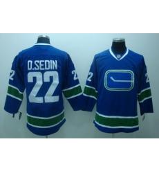 Vancouver Canucks 22 D.sedin blue 3rd Jersey