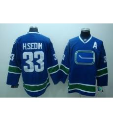 Vancouver Canucks 33 H.Sedin Blue Jersey 3rd A patch