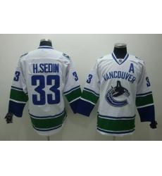 Vancouver Canucks 33 H.Sedin white Jersey A patch