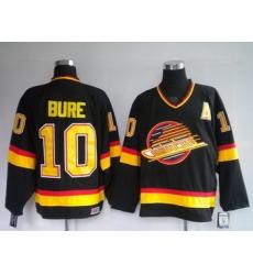 jerseys Vancouver Canucks 10 Bure Black