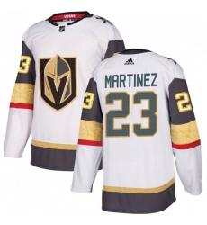 Men Adidas Vegas Golden Knights 23 Alec Martinez White Away Jersey