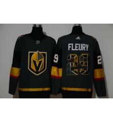 Men Vegas Golden Knights 29 Marc Andre Fleury Gray Adidas Fashion Jersey