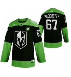Men Vegas Golden Knights 67 Max Pacioretty Green 2020 Adidas Jersey