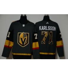 Men Vegas Golden Knights 71 William Karlsson Gray Adidas Fashion Jersey