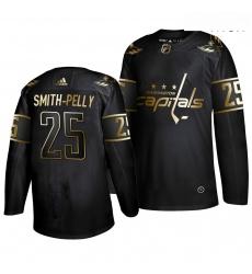 Capitals 25 Devante Smith Pelly Black Gold Adidas Jersey