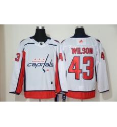 Capitals 43 Tom Wilson White Adidas Jersey