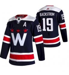 Men Washington Capitals 19 Nicklas Backstrom NEW Navy Blue Stitched NHL Jersey