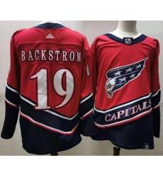 Men Washington Capitals 19 Nicklas Backstrom Red 2020 21 Reverse Retro Adidas Jersey