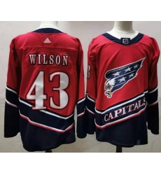 Men Washington Capitals 43 Tom Wilson Red 2020 21 Reverse Retro Adidas Jersey
