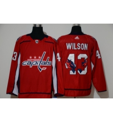 Men Washington Capitals 43 Tom Wilson Red Adidas Fashion Jersey