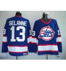 Hockey jerseys Winnipeg Jets #13 Selanne blue Throwback